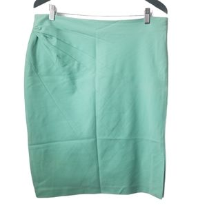 Lapis women's green pencil skirt ruched detail